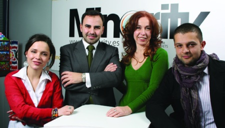 María Claudía Garcés, Directora de Servicios al Cliente; José Santamaría, Director General; Carolina de Dobrzynski, Directora de Nuevo Negocio y Edwin Pérez, Director Creativo